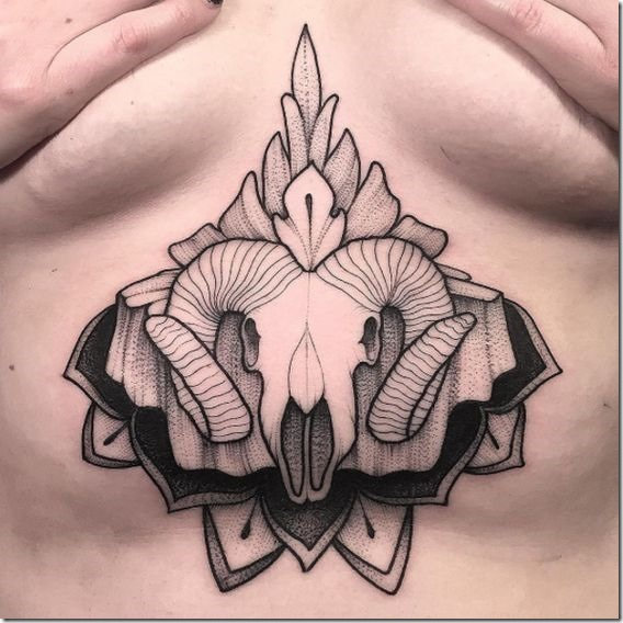 Putting Sternum Tattoo Designs For Ladies