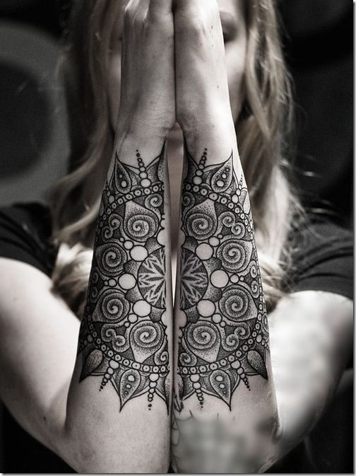 Lovely Exterior Of The Forearm Tattoos