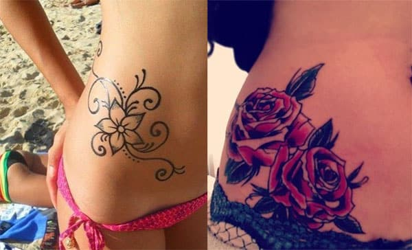 Tattoos for girls on the hip, concepts and sensual designs