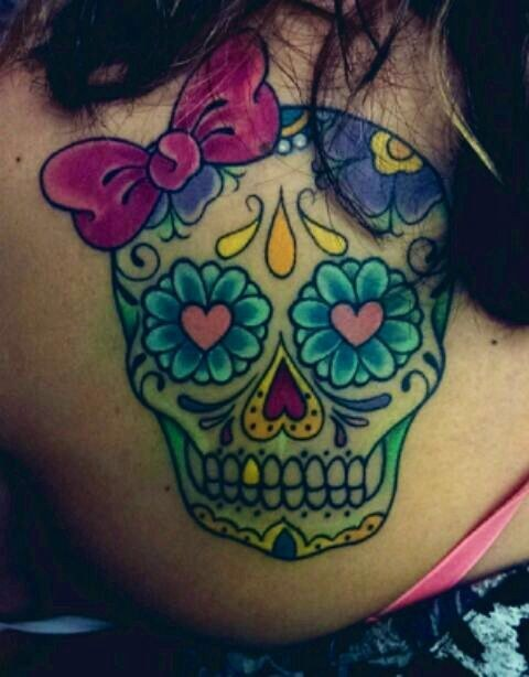 Wonderful Mexican cranium tattoos