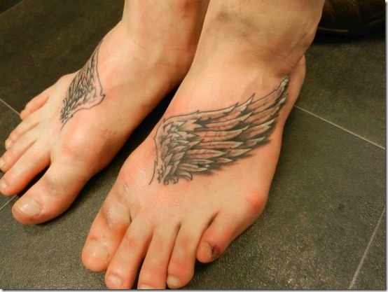 Inventive Angel Wing Tattoos