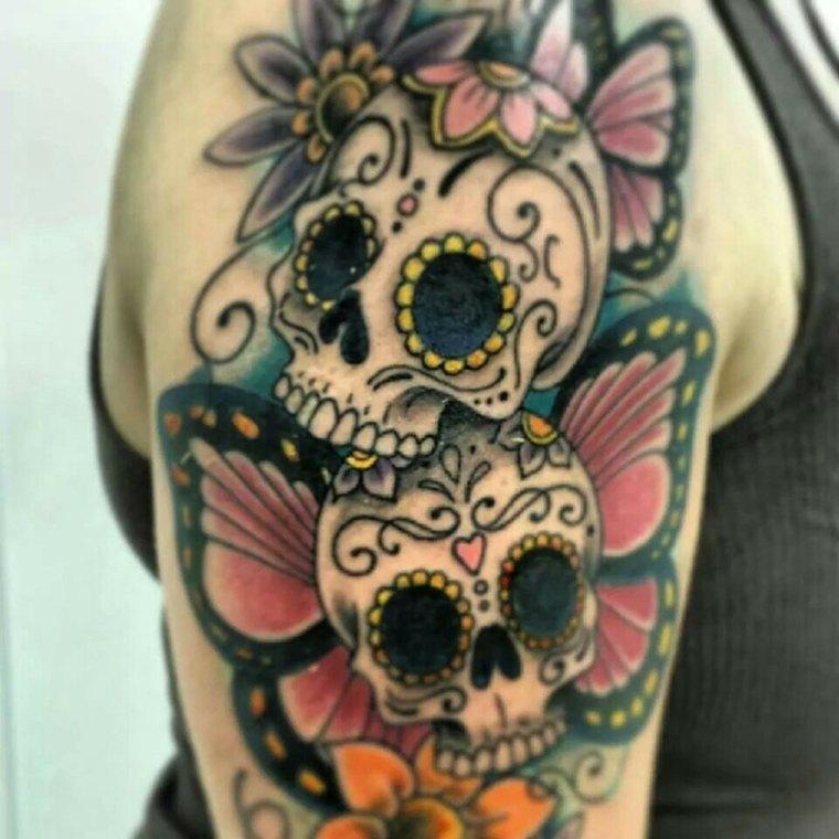 Mexican cranium tattoo: which means, traits