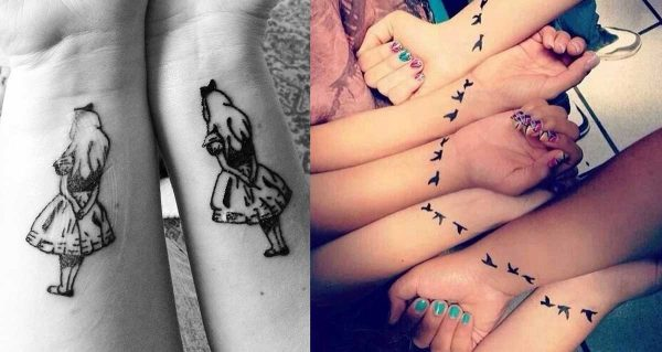 +100 Tattoos for greatest pals with nice designs
